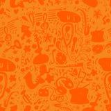 Hand drawn music seamless background pattern Stock Photo