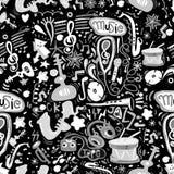 Hand drawn music seamless background pattern Royalty Free Stock Photo