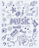 Hand drawn music set Stock Image