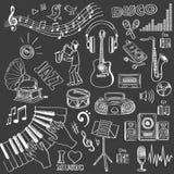 Hand drawn music set Royalty Free Stock Photos