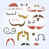 Hand drawn mustache Stock Photos