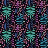 Hand-drawn naadloos bloemenpatroon stock illustratie