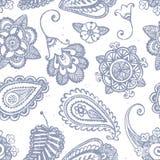 Hand-drawn naadloos patroon Royalty-vrije Stock Afbeeldingen