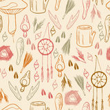 Hand Drawn Nature Pattern Royalty Free Stock Image