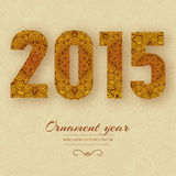 Hand drawn new year 2015  background ornament Stock Photography
