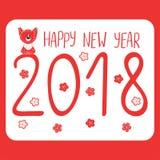 Cute dog New Year greeting card Stock Photo