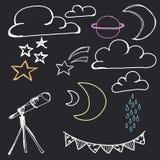 Hand Drawn Night Sky vector illustration