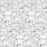 Hand drawn North America seamless pattern Royalty Free Stock Image