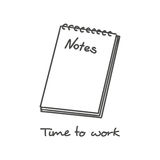 Hand drawn notepad icon Royalty Free Stock Photography