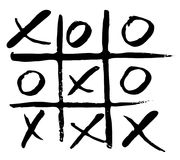 Hand drawn noughts and crosses. vector  Stock Photography