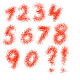 Hand drawn numbers Stock Photo