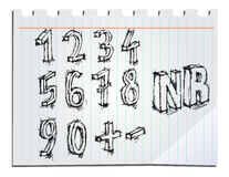 Hand drawn numbers Stock Photos