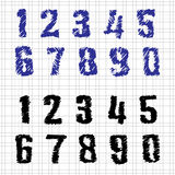 Hand-drawn Numbers Royalty Free Stock Images