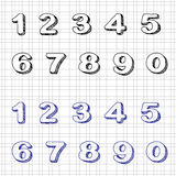 Hand-drawn Numbers Royalty Free Stock Photos
