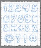 Hand-drawn numbers set. Stock Image
