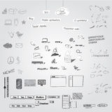 Hand drawn objects Stock Image