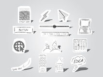 Hand drawn objects Royalty Free Stock Images