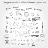 Hand drawn objects Stock Photos
