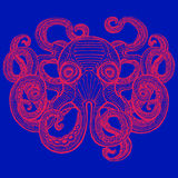 Hand drawn octopus Royalty Free Stock Images