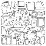 Hand drawn Office set vector illustration