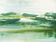 Nature Abstract Green Oil Painting Background. Modern art. Contemporary art.