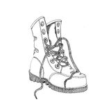 Hand drawn old boot. Royalty Free Stock Photo