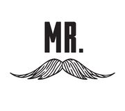 Hand drawn old fashion mustaches illustration. Actual hipster vector. Male barber shop print. Wedding card with text Mr. Hand drawn old fashion mustaches Stock Photo