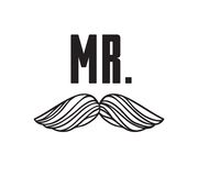 Hand drawn old fashion mustaches illustration. Actual hipster vector. Male barber shop print. Wedding card with text Mr. Hand drawn old fashion mustaches Royalty Free Stock Images