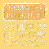 Hand drawn old style font Stock Image
