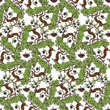 Hand Drawn Olive Oil Seamless Pattern Royalty Free Stock Photography