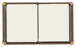 Hand drawn open note book Royalty Free Stock Photos