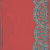 Hand drawn  openwork  ethnic  seamless border Royalty Free Stock Images