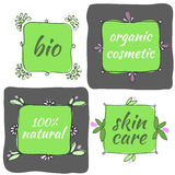 Hand drawn organic icons Royalty Free Stock Photos