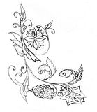 Hand drawn ornament Stock Image