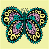 Hand drawn ornament butterfly Royalty Free Stock Photography