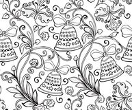 Hand drawn ornament with Christmas bells for the anti stress col Royalty Free Stock Images
