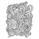 Hand Drawn Ornament with floral pattern Royalty Free Stock Photography