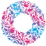 Hand Drawn Ornament with Floral Wreath Royalty Free Stock Photography