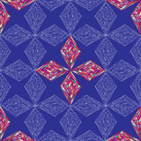 Hand drawn ornament pattern. Vector geometric tracery seamless background. Royalty Free Stock Photos