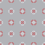 Hand drawn ornament pattern. Vector geometric tracery seamless background. Stock Photography