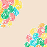 Hand drawn ornamental background. Royalty Free Stock Photography