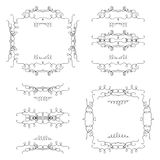 Hand Drawn ornamental borders and frames Royalty Free Stock Image