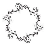 Hand Drawn Ornamental Circle Frame Royalty Free Stock Image