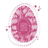 Hand drawn ornamental easter egg with colorful wave pattern. Cut Stock Photography