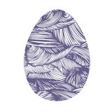 Hand drawn ornamental easter egg with colorful wave pattern. Royalty Free Stock Photos