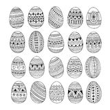 Hand drawn ornamental Easter eggs set Royalty Free Stock Photography