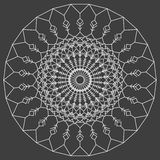 Hand drawn ornamental ethnic round. handmade lace abstract artwork Stock Images