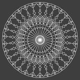 Hand drawn ornamental ethnic round. handmade lace abstract artwork Royalty Free Stock Image