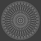 Hand drawn ornamental ethnic round. handmade lace abstract artwork Royalty Free Stock Photos