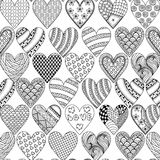 Hand drawn ornamental heart with love in doodle, zentangle triba Royalty Free Stock Image